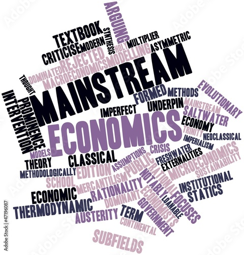 Word cloud for Mainstream economics