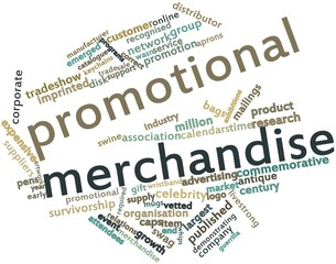Word cloud for Promotional merchandise