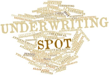 Word cloud for Underwriting spot