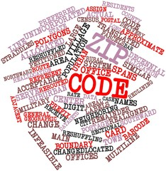 Word cloud for ZIP code