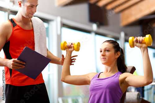 Working out with a personal trainer