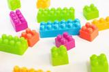 Colorful palstic blocks