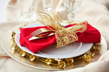 Christmas Place Setting with Bells