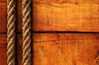Wood texture and ropes