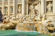 Leinwanddruck Bild - Rom Trevi Brunnen - Rome Trevi Fountain 03