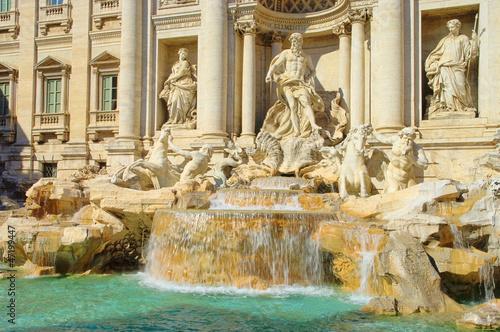 Leinwanddruck Bild Rom Trevi Brunnen - Rome Trevi Fountain 03