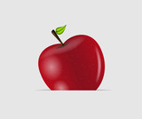 Sweet tasty apple vector illustration