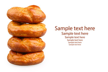stack of donuts isolated on white