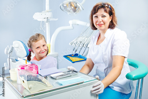 Dentist and a patient