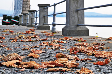 Autunno sul lago Maggiore, lungolago di Lesa