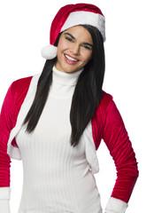 Girl in Santa Suit
