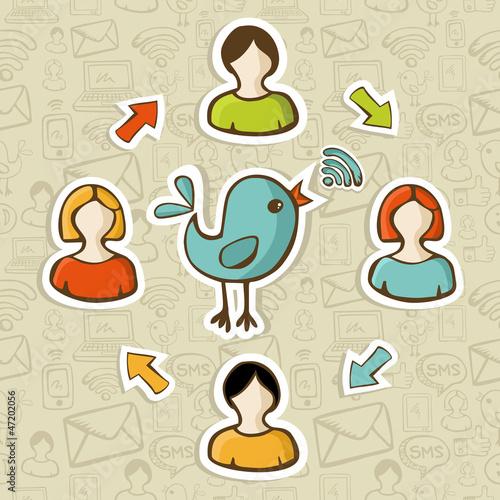 Social media RSS feed