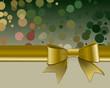 Weihnachtszauber mit goldener Schleife