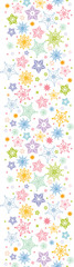 Vector colorful stars vertical seamless pattern background