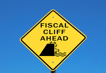 Fiscal cliff sign