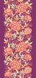 Vector golden flowers and leaves elegant vertical seamless