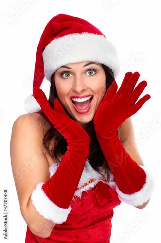 Happy young christmas girl.