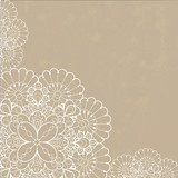 Fototapety Retro background with lace ornament