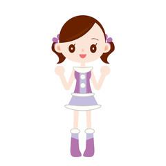 アイドル 紫色の衣装を着た女の子