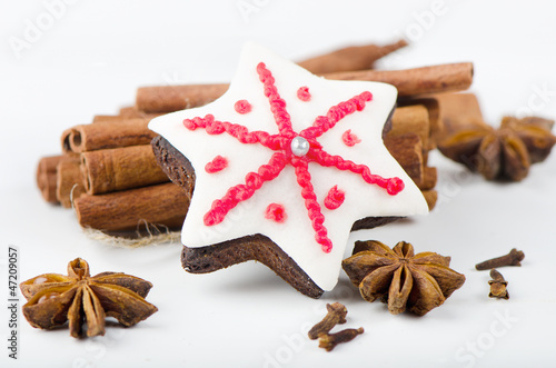 christmas cookies and spices
