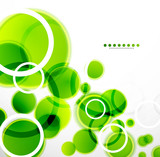Fototapety Abstract shapes vector background: green bubbles