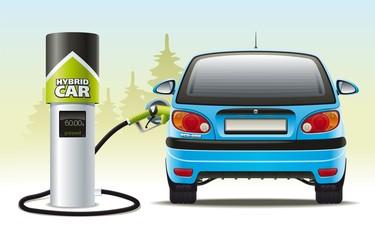 Refilling a hybrid car