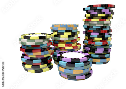 Casino Chip Stacks Top