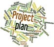 Word cloud for Project plan