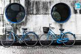 two blue bikes - 47211475