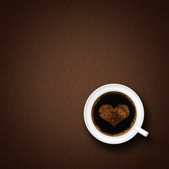 coffe cup on a brown background © Yuriy Kulik