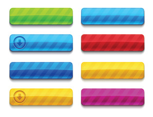 Colorful blank premium web buttons