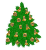 green christmas tree, decoration