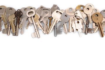 Close row of keys head