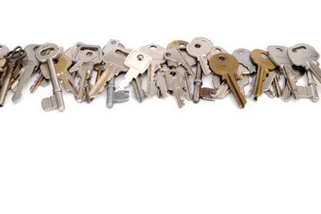 Row of keys header