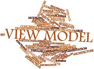 Word cloud for View model