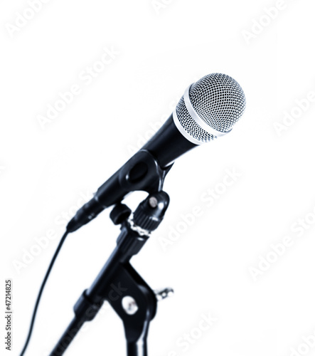 microphone white background