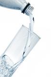 Fototapeta szkło - na białym tle - Woda