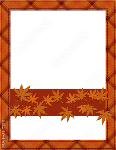 Orange Fall Frame for your message or invitation