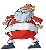 Cartoon Santa with a big belly