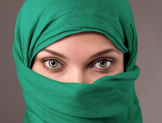 Young woman in a hijab