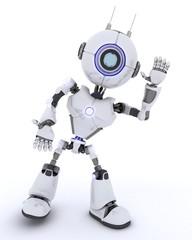 Robot waving hello