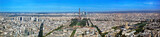 Paris panorama, France. Eiffel Tower, Les Invalides.