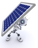 Robot with a solar panel