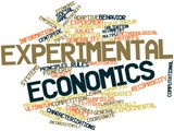 Word cloud for Experimental economics