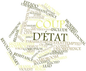 Word cloud for Coup d'état