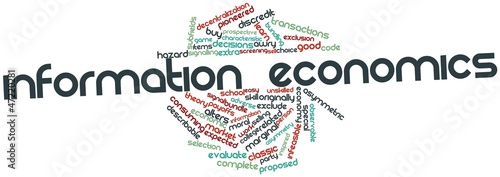 Word cloud for Information economics