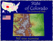Colorado USA State map location nickname motto