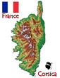 Corsica island France Europe national emblem map symbol motto