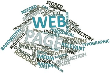 Word cloud for Web page