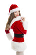 Beautiful smiling Christmas woman